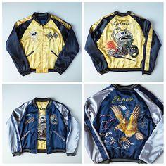 Japanese Wagara Vintage TOYO Tailor Cyclones Punk Biker Devil Evil Oni Dragon Fujisan Eagle Sukajan Skajan Jacket - Japan Lover Me Store