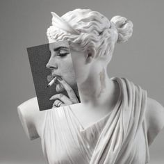 Statues Of Liberty Video - Statues Art Faces - Zeus Statues Face - Bad Girl Aesthetic, Aesthetic Art, Aesthetic Pictures, Black Aesthetic Wallpaper, Aesthetic Wallpapers, Black And White Photo Wall, Modern Baroque, Pop Art Wallpaper, Black And White Aesthetic