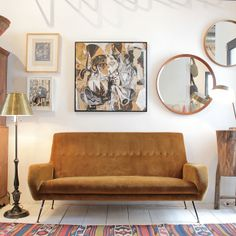 On Point | A classic Italian sofa is in good company on our shop floor. #furniture #design  (at Nickey Kehoe)