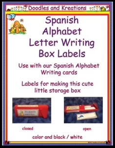 spanish letter writing card box labels english alphabet writing spanish alphabet letters dual language