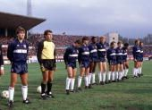 Sport. Football. World Cup Qualifying match, 14th November 1984. Istanbul. Turkey (0) v. England (8) The England team line up. L-R; Bryan Robson, Peter Shilton, Kenny Sansom, Steve Williams, Viv Anderson, Mark Wright, Ray Wilkins, Tony Woodcock, John Barn