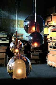 The special feature of this pendant lamp Glo large is the round lampshade, which is made of an outer and a matte inner screen - All For Decoration Plug In Pendant Light, Suspended Lighting, Lamp Design, Lamp, Pendant Lamp, White Lamp Shade, Lights, Cool Lamps, Glass Lighting