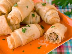 Sausage Phyllo Rolls recipe from Food Network Kitchen via Food Network Food Network Recipes, Cooking Recipes, Healthy Recipes, Sausage Recipes, Healthy Meals, Healthy Dips, Cooking Food, Ww Recipes, Light Recipes