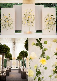 Head table backdrop for a summer wedding, Boston Wedding Photographers Blog…