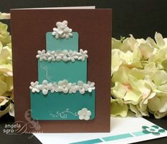 wedding card with paint chip swatches