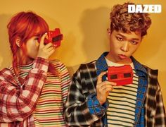 Akdong Musician - Dazed and Confused Magazine June Issue Funny Lyrics, Akdong Musician, Star Magazine, Fandom, Dazed And Confused, K Pop Star, Korean Entertainment, Cute Korean, Wedding Poses