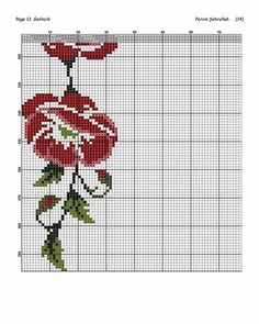 Ely, Cross Stitching, Barbie, Cross Stitch Samplers, Red Flowers, Railings, Cross Stitch Embroidery, Poppies, Baskets