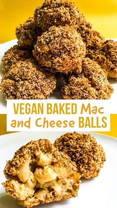 A recipe for vegan baked mac and cheese balls? These delicious healthy bites are filled with protein, vegetables, and only natural ingredients! Mac And Cheese Bites, Bake Mac And Cheese, Vegan Mac And Cheese, Blender Food Processor, Food Processor Recipes, Whole Food Recipes, Vegan Recipes, Vegan Foods, Diet Recipes