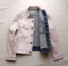 MARTIN MARGIELA artisanal denim jacket painted light pink • martin margiela35,000円 BIN