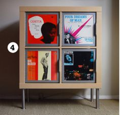 Ikea Expedit shelf with Rekordit record frames.