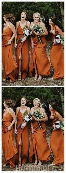Spaghetti Straps Burnt Orange Cheap Bridesmaid Dresses Online, WG267 #bridesmaid #wedding #bridesmaiddresses #weddingidea #bridesmaidsdresses Burnt Orange Bridesmaid Dresses, Cheap Bridesmaid Dresses Online, Mismatched Bridesmaid Dresses, Wedding Bridesmaid Dresses, Burnt Orange Dress, Cheap Dresses, Bridesmaid Outfit, Bridesmaid Ideas, Orange Wedding Dresses