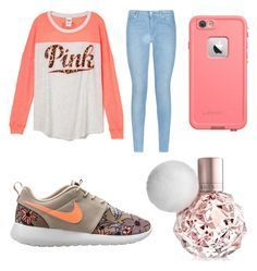 """8th grade outfit"" by mariahjimenez0603 ❤ liked on Polyvore featuring 7 For All Mankind and NIKE"