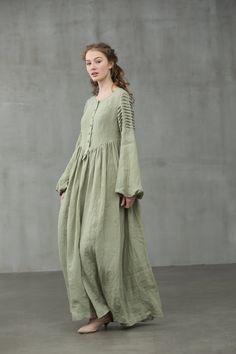Linen Shirt Dress, Linen Dresses, Abaya Fashion, Fashion Dresses, Mori Fashion, Womens Fashion, Muslim Fashion, Modest Outfits, Casual Dresses
