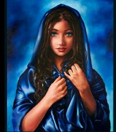 The young Virgin mary.  Akiane drawings