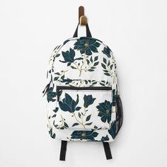 Custom Bags, Flower Prints, Blue Flowers, Different Styles, Fashion Backpack, Floral Design, Shells, Backpacks, Art Prints