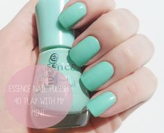 Essence Gel Nail Polish `Play With My Mint` / Review