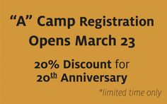 """A"" Camp Registration Notice"
