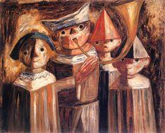 Tadeusz Makowski - Czworo dzieci z trąbą, 1929