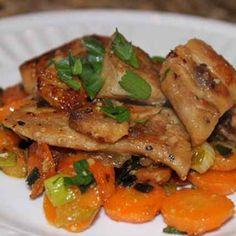 Gingered Carrots with Mahi Mahi – The Foodee Project