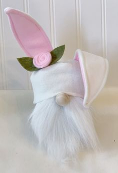 This is an adorable little Easter bunny gnome that will add a bit of whimsy to your Easter and spring decor. He sports a little bunny ear hat and a handmade pom pom tail. His body is made from black… Daha fazlası Kids Crafts, Crafts For Teens To Make, Easter Crafts, Crafts To Sell, Clay Crafts, Diy And Crafts, Sharpie Crafts, Simple Crafts, Family Crafts