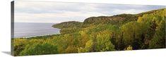 Premium Thick-Wrap Canvas Wall Art Print entitled Lake in autumn, Lake Superior, Minnesota, None