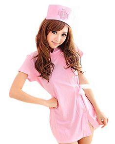 SAMGU Frauen Krankenschwester Kostüm Outfit Lingerie Sexy Hot Nachthemd farbe rosa