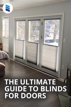 These 10 Things You MUST Know When Buying Blinds For Doors. Learn how to choose the perfect blinds for patio doors, French doors, sliding glass doors, and front doors. #homedecor #interiordesign #doorideas #livingroomideas #patiodoors Arched Window Coverings, French Door Coverings, Glass Door Coverings, Door Window Covering, Patio Door Coverings, Window Treatments, French Doors With Sidelights, Sidelight Windows, Entry Doors With Glass