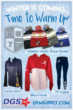 db014134ed60 Stay warm this #winter on your way to the #gym, school or at your next  #meet in our winter #apparel! Exclusive only to gymsupply.com!