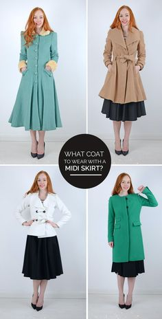 what coat to wear with a midi skirt?