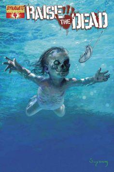 Raise The Dead #4 - Darkest Before Dawn by Arthur Suydam's Nirvana Tribute Cover