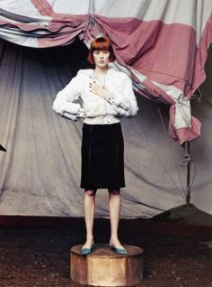 """The Greatest Show on Earth"": Karen Elson photographed by Steven Klein for Vogue, September 2002"