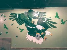 Finished product!  #MisterSampson #PHILADELPHIAEAGLES #eagles #philadelphia #philly #LOSANGELES #Longbeach #mural #nyc