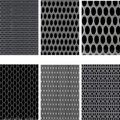 We offer perforated metal with various patterns mainly standard perforated patterns and decorative patterns. Custom designs available. Precise parameters guaranteed.