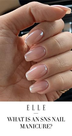 What is an SNS nail manicure? - Estella K. - What is an SNS nail manicure . - What is an SNS nail manicure? – Estella K. – What is an SNS nail manicure? Sns Nails Colors, Neutral Nails, Dark Color Nails, Cute Nails, Pretty Nails, Hair And Nails, My Nails, Oval Nails, Almond Nails