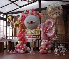Best Birthday Decoration Ideas for Girl in 2020 - By Age Balloons And More, Number Balloons, Helium Balloons, Baby Shower Balloons, Birthday Balloons, 21st Bday Ideas, Balloon Display, Balloon Arrangements, 18th Birthday Party