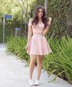 A-Line Dress, Light Pink Dresses,Off Shoulder Homecoming Dresses, Satin Short Dresses from PeachGirlDress,homecoming - Moda Hoco Dresses, Pretty Dresses, Casual Dresses, Fashion Dresses, Girls Dresses, Pink Dress Casual, Elegant Dresses, Light Pink Dresses, Light Pink Homecoming Dresses