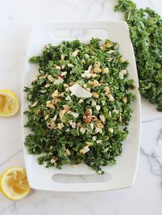 Kale is one of those vegetables that is both loathed and loved. That must be hard on ole& Kale. Everywhere you show up people are either excited to see you or act like your a punishment to be around. Kale Salad Recipes, Food Salad, Vegetable Recipes, Pasta Recipes, Pasta Salad, Healthy Salads, Healthy Eating, Healthy Lunches, Dressings