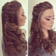If you are looking for an amazing style for your hair, you may give an eye to the collection we have gathered over here. You may check out hairstyles for girls in 11 Unique And Different Hairstyles for Girls For A Head Turning Effect. Plaits Hairstyles, Dance Hairstyles, Pretty Hairstyles, Wedding Hairstyles, Simple Hairstyles, Bridesmaid Hair, Prom Hair, Different Hairstyles, Hair Dos