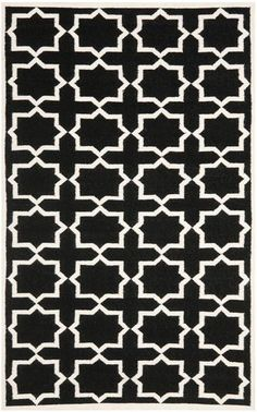 Safavieh Dhurries DHU549L Black / Ivory Rug