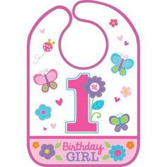 Sweet Girl 1st Birthday Bib - Party City