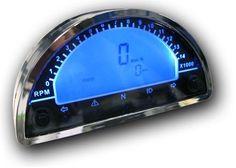 Mini Digital Speedo 180 - Tacho - Ideal Streetfighter Project Clocks Cafe Racer