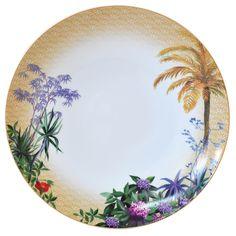 Bernardaud - Assiette 27cm Tropiques #bernardaud #porcelaine #porcelain #limoges #tablesetting
