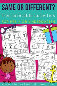 Kindergarten Dekoration, Get These Same And Different Preschool Activities For Free Today They Are Great For Introducing, Kindergarten Dekoration