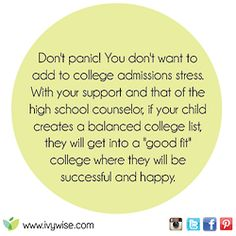 Your child will find their perfect college.