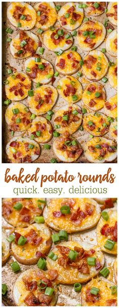 ~ Loaded Baked Potato Rounds - a simple, quick and delicious side dish or appetizer! We love to dip ours in sour cream - YUM!