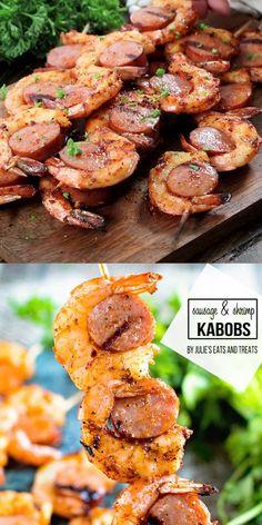 Fish Recipes, Seafood Recipes, Cooking Recipes, Healthy Recipes, Vegetarian Grill Recipes, Easy Grill Recipes, Recipes For The Grill, Shrimp Dinner Recipes, Healthy Shrimp Recipes
