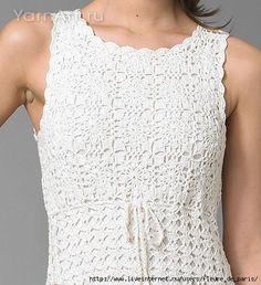 Scorzo Tricroche: Vestido em crochê com squares