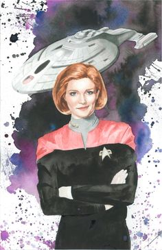 Captain Janeway Commission by JAWart728.deviantart.com on @deviantART Film Star Trek, Star Trek Show, Star Wars, Captain Janeway, Star Trek Images, Kate Mulgrew, United Federation Of Planets, Star Trek Voyager, Stark