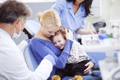 """Encourage your child to discuss any fears he/she might have about visiting a dentist, but don't put any new fears into his/her head. It is a good rule of thumb not to mention the words """"hurt"""" or """"pain"""" as it raises a possibility he/she might not have thought of."""
