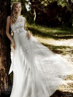 Papilio 2011 wedding gowns - Waterfall wedding dress from the Forest Dreams collection by the Russian bridal house